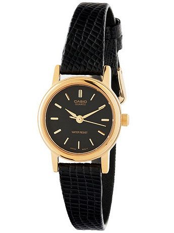 American Apparel - LTP1095Q1ALE Casio Black Leather Ladies Analog Watch ($54.00) - Svpply