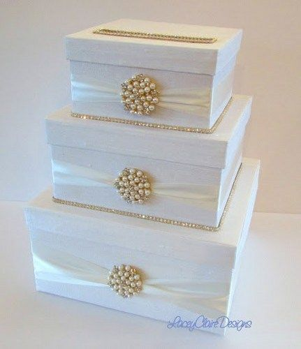 Rhinestone Wedding Card Holder Handmade Box Custom Made