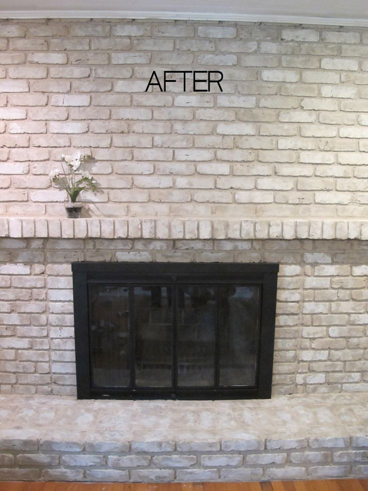 Tutorial How To Paint A Brick Fireplace Painted Brick