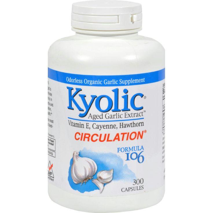 Kyolic Aged Garlic Extract Circulation Formula 106 - 300 Capsules