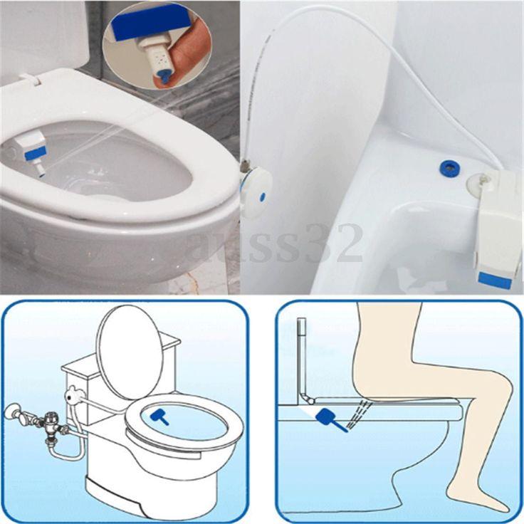 Bathroom Smart Toilet Bidet Attachment Non Electric Washlet Sprayer Cold Water