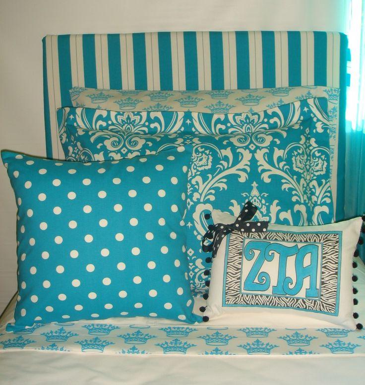 Dorm Headboard and Dorm Decorative Pillows