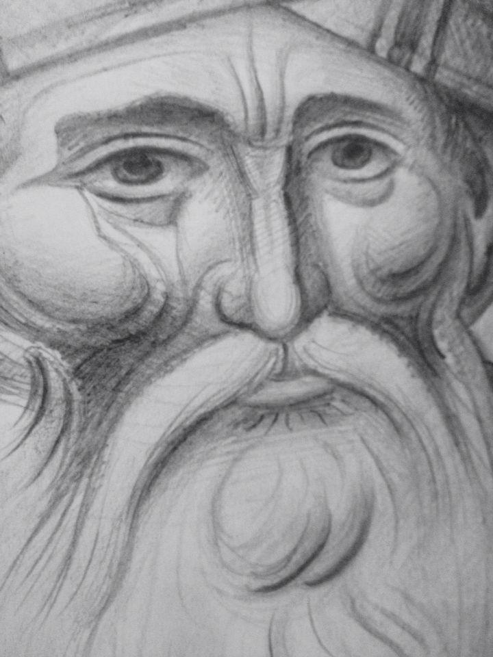 Sketch of St.John Damasceno