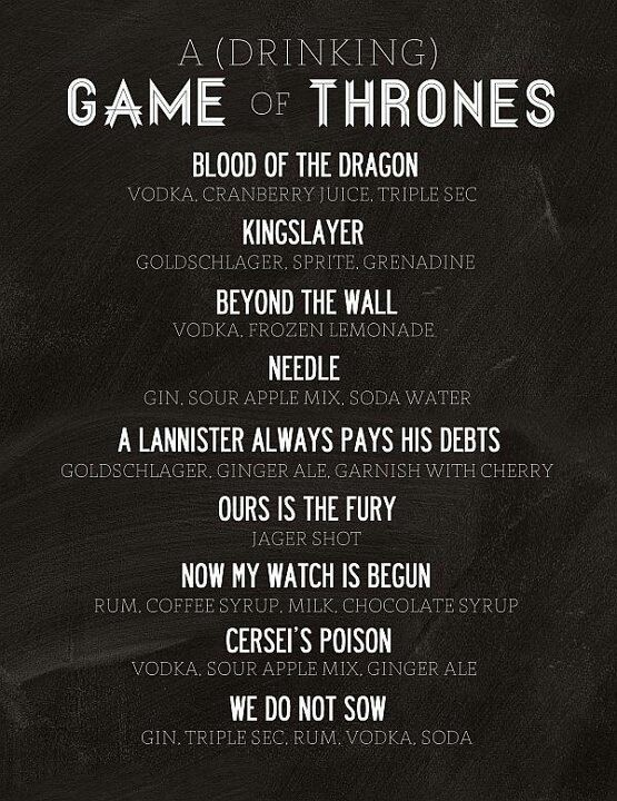 Need to try. Lol: Drinking Games, Idea, Recipe, Thrones Drinks, Food, Gameofthrones, Thrones Party, Game Of Thrones