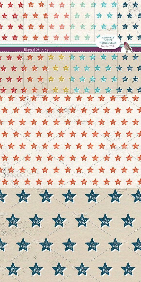 Offset Printed Star Digital Patterns. Patterns. $11.00