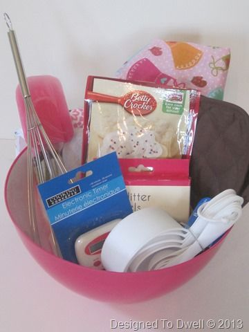 Baking Kit Birthday Gift for kids-neat idea, but I would put in real ingredients and a recipe