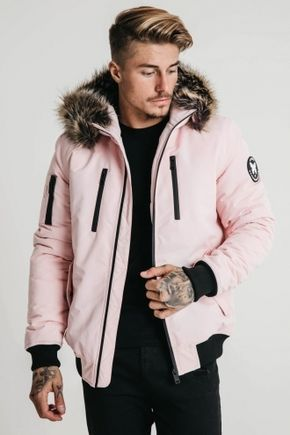 968c65dd14d4 GOOD FOR NOTHING Arctic Bomber Parka Jacket- Dust Pink Product Code   ALASKABOMBERDUSTPINK £89.99