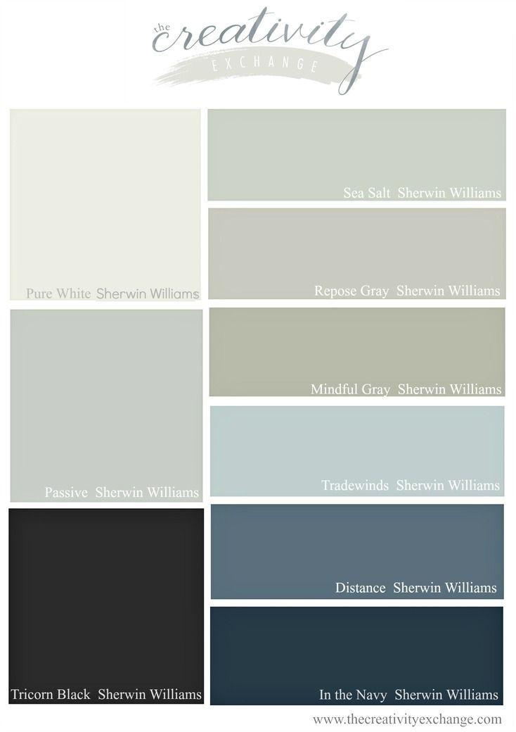 I più popolari e più venduto del 2016 Sherwin Williams colori della vernice.