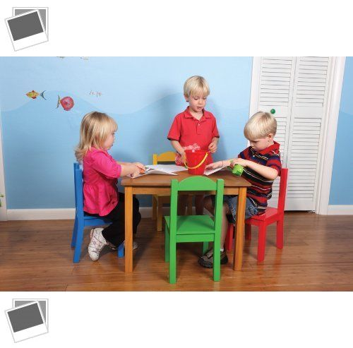 Play Tables and Chairs 66743: Tot Tutors Kids Table And 4-Chair Set, Primary Wood -> BUY IT NOW ONLY: $116.99 on eBay!