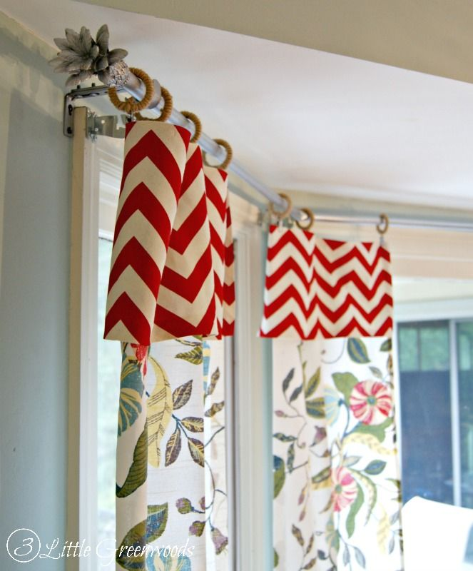 secret to super cheap bay window curtain rods