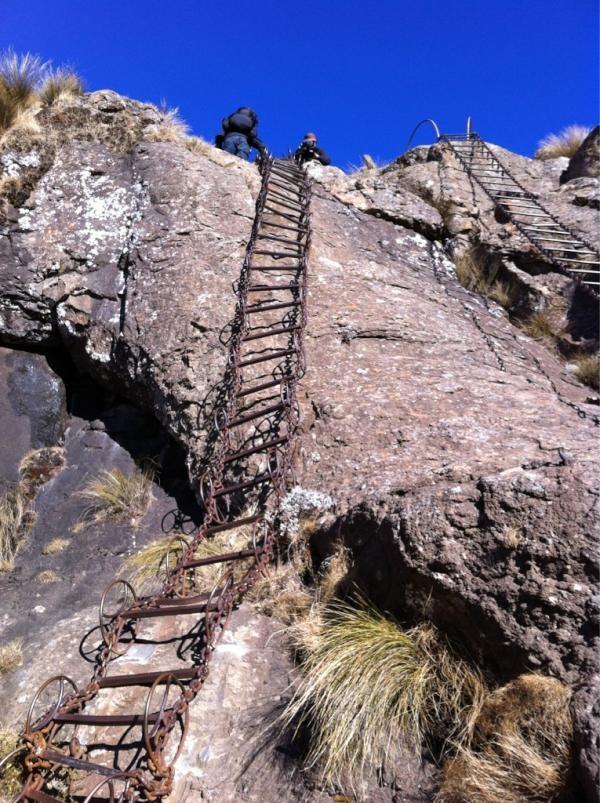 The climb to Tugela Falls #CharleyBoorman #RussMalkin #ExtremeFrontiersSouthAfrica #SouthAfrica #BigEarth #TugelaFalls