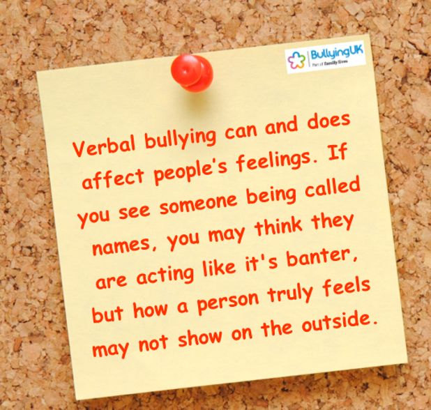 Verbal Bullying | Is it bullying or banter?