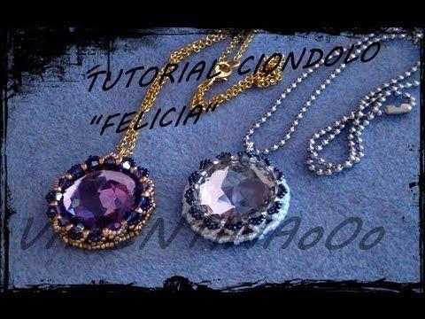 """Tutorial Perline: Orecchini/Ciondolo """"DOUBLE"""", realizzato con perline rocaille, delica e superduo - YouTube"""