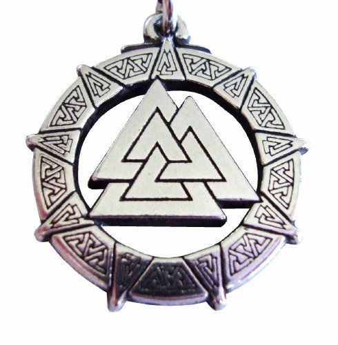 "Pewter Valhalla Valkyrie Valknut Pendant Celtic Norse Viking Necklace Jewelry ""The Knot of the Fallen"" for $14.99"