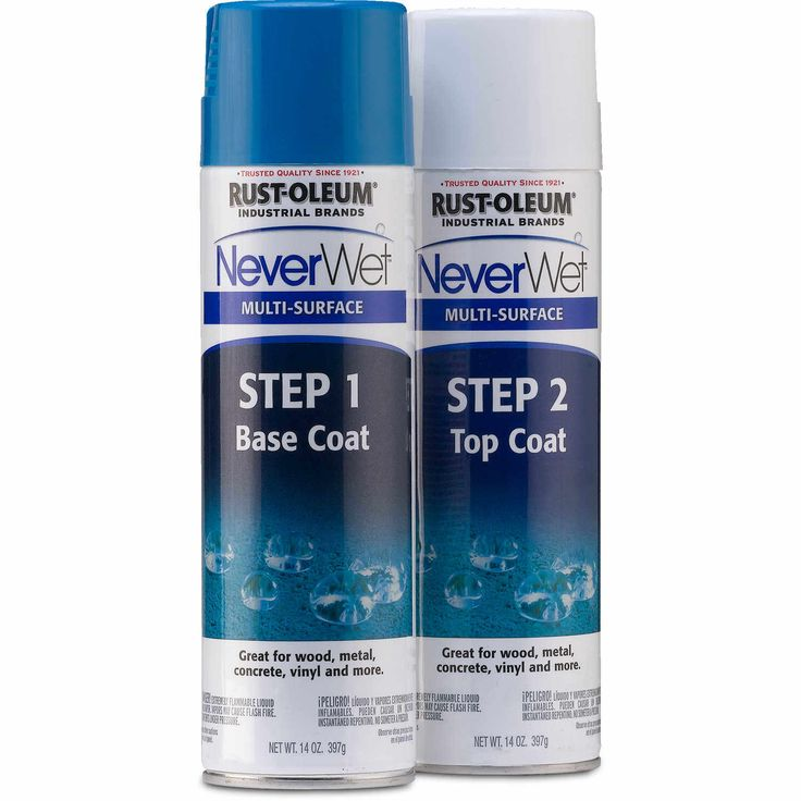 This innovative treatment creates a barrier that repels water, mud, ice, and liquids on a variety of surfaces. The two-step system consists of a base coat and a top coat, and the formulation dries to a flat, frosted finish. Suitable for use on metal, wood, aluminum, galvanized metal, PVC, concrete, masonry, asphalt, vinyl siding, fiberglass, canvas, and most plastics. For best results, NeverWet's top coat should be reapplied when water no longer rolls off of the surface. Kit contains two 14…