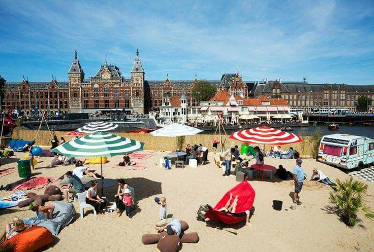 Amsterdam city beach