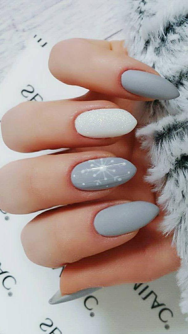 100 Pretty Winter Nail Design Ideas 2019 Winter Nail Designs