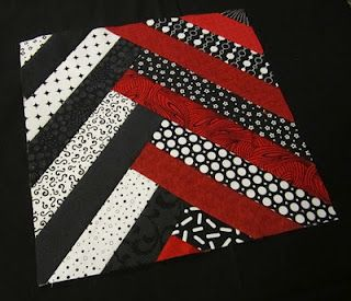 block pattern link - Cute  Idea wish I had seen this before I did my red white and black quilt!
