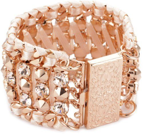 """LK Designs """"Summer Breeze"""" Rose Gold Colored Crystal Bracelet LK Designs. $200.00. One size Swarovski crystal studded bracelet. Made in Israel. Trendy rose gold crystals and finish"""