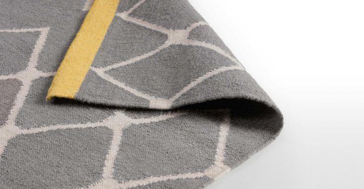 Taza flachgewebter Teppich 160 x 230 cm, Ocker ► Design, das dein Zuhause schöner macht: Entdecke jetzt neue Wohnaccessoires bei MADE.