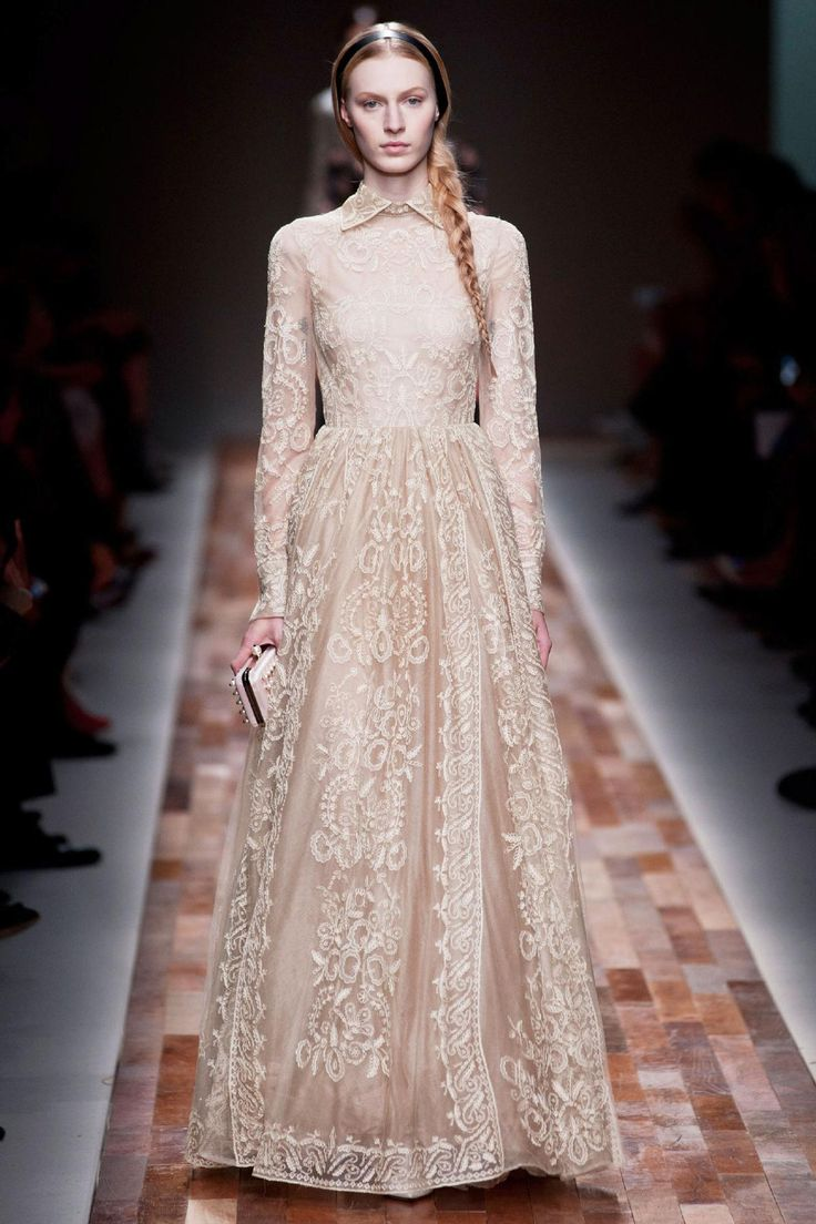 Valentino Fall 2013 RTW Collection - Fashion on TheCut #neutral #lace #cream