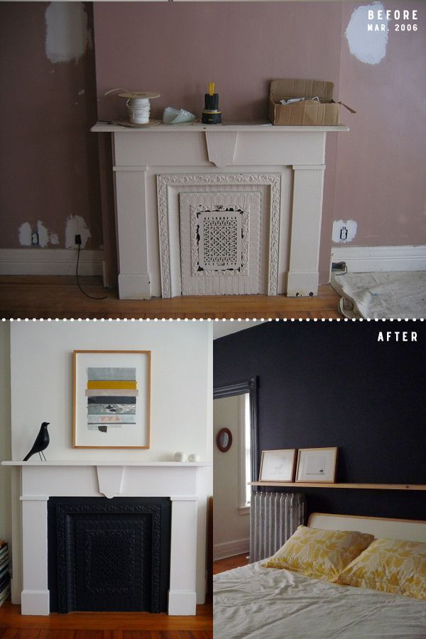 Blocked in fireplace surround
