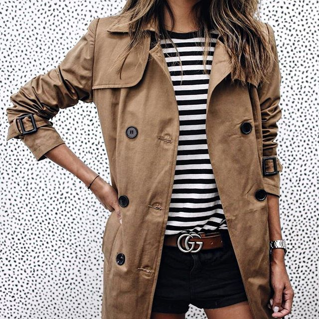 Feelin' French. ❤️ / @shop_sincerelyjules trench coat shopsincerelyjules.com