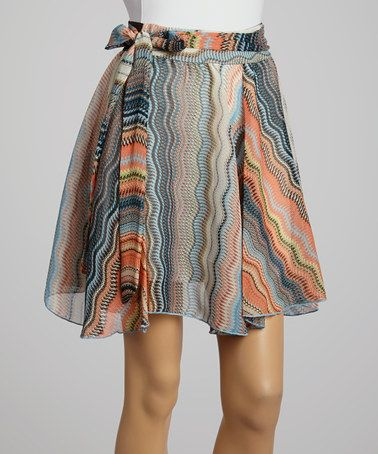 Love this Orange & Blue Abstract Skirt by Freeway Apparel on #zulily! #zulilyfinds