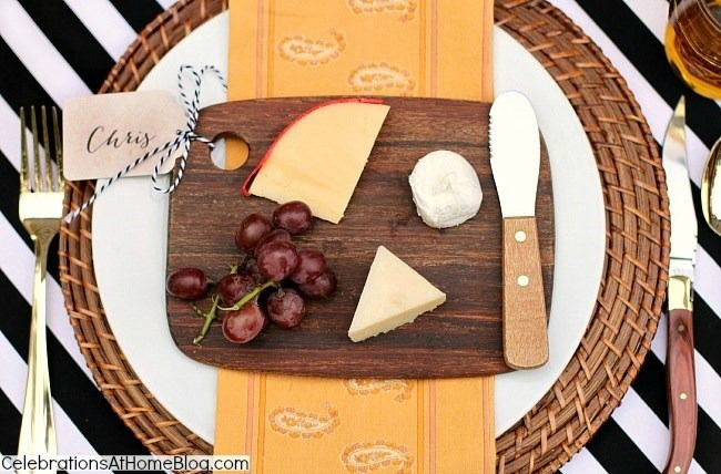 Individual Cheese Plates for each guest done on a small cutting board.  /  Celebrations At Home blog