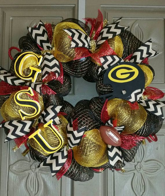 Grambling State University deco mesh wreath by AudrasSouthernFlair