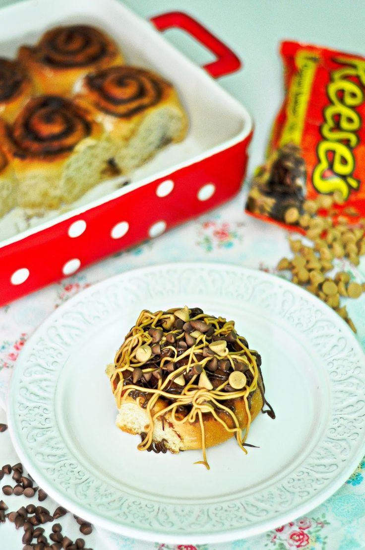 OBSESIÓN CUPCAKE: Rolls de Mantequilla de Cacahuete y Chocolate