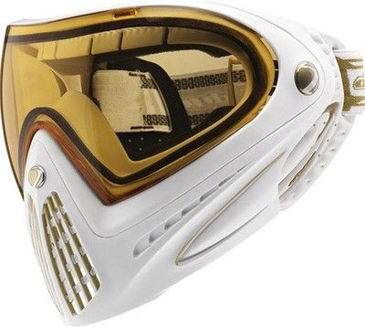 Dye i4 Invision Pro Paintball Goggles Mask - Limited Edition White / Gold - $135