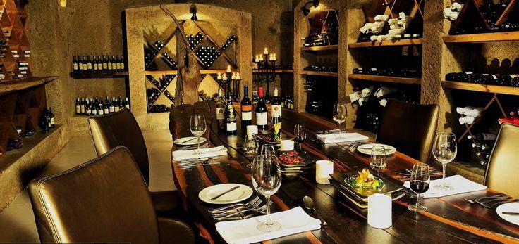 Wines at the Sabi Sabi Earth Lodge