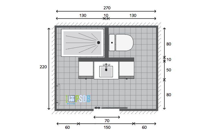 Exemple Plan De Salle De Bain De 5 9m2 59m2 Bain De