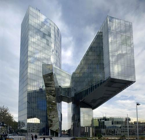 Gas Natural Office Building by EMBT: Barcelona Architecture, Headquart Barcelona, Natural Building, Offices Building, Natural Headquart, Building Architecture, Gas Natural, Barcelona Spain, Edificio Gas