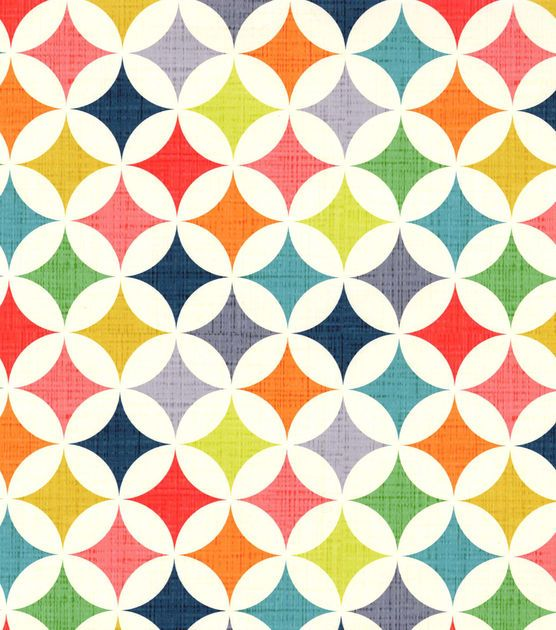 Like this.  Patty Young Premium Quilt Fabric-Cathedral Window Multi & Premium Quilting Fabric at Joann.com