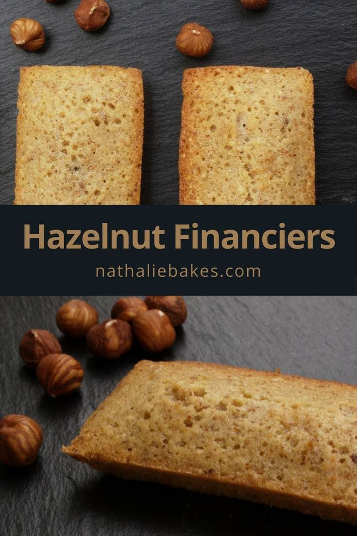 Hazelnut financiers are small French cakes served at teatime. They are moist, springy and nutty with a crispy outside and make a great snack. | nathaliebakes.com