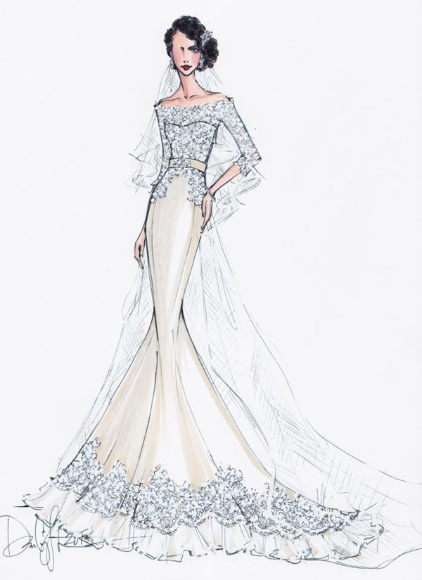 wedding gown sketch | Wedding Gown Sketches | Pinterest
