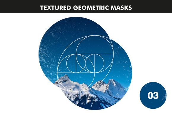 Textured Geometric Masks 03 by Offset on Creative Market