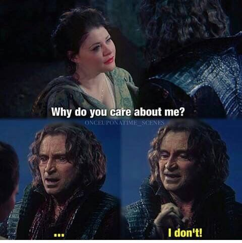 "and that ""I don't"" actually means I freaking love you and can we kiss deeply right now?! Oh Rumple your too easy to read dearie!!!"