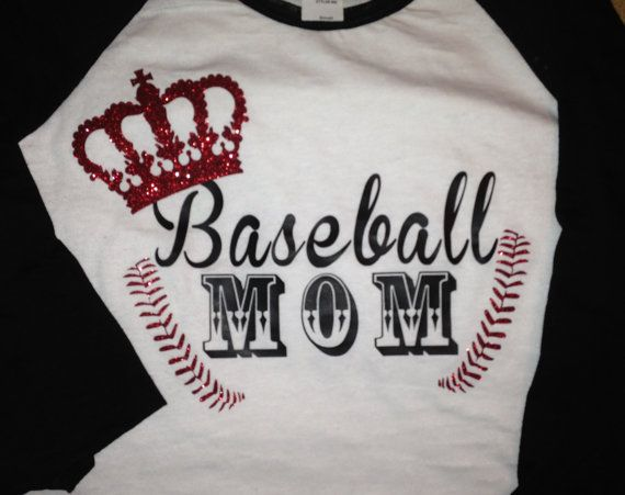 Baseball Mom Shirt by SewCr8tivechic on Etsy, $26.00