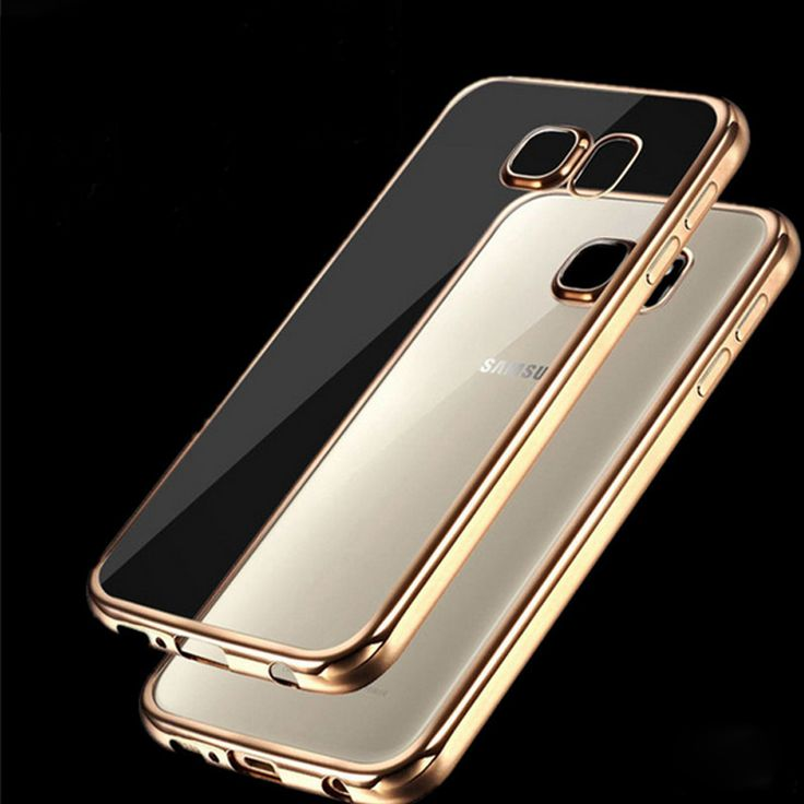 Coque for Samsung Galaxy S6 Edge S6 S7 S7 Edge Case Clear Transparent Gold Plating Soft TPU Back Cover for Samsung S7 Edge Case