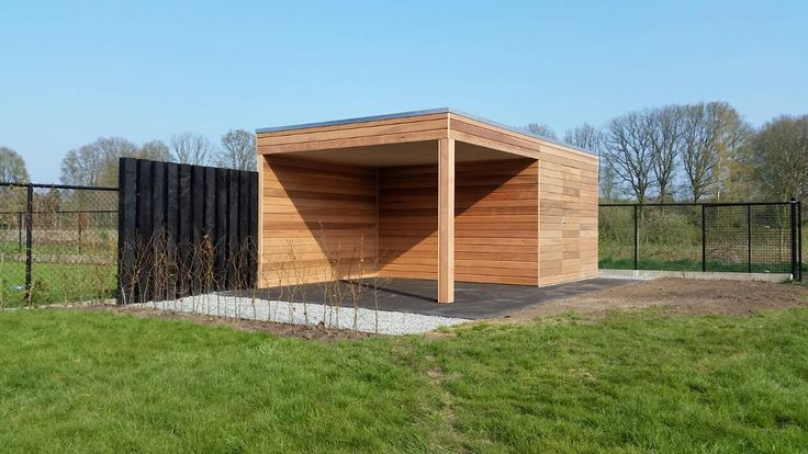 Overkapping met berging van red ceder hout! www.vanviegen.com