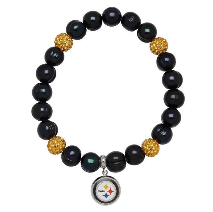 Shop the Official Steelers Pro Shop for Pittsburgh Steelers Pearls And Sparkles Bracelet