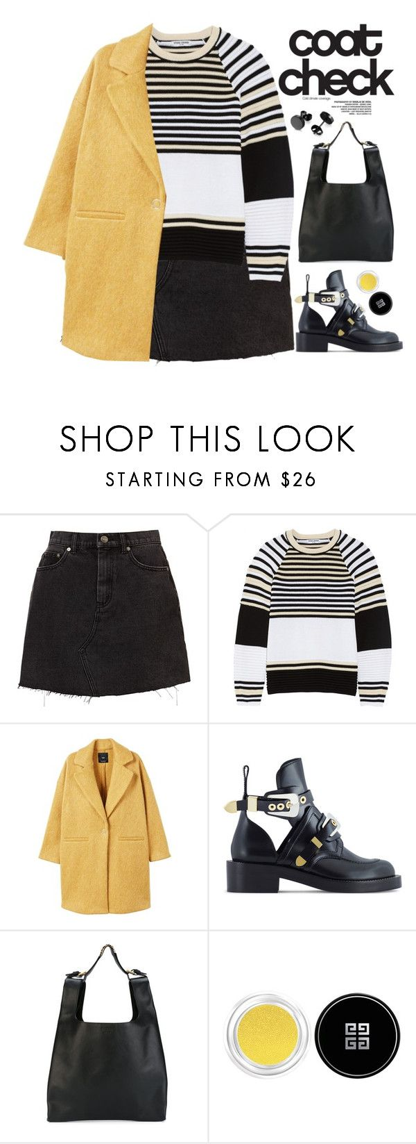 """""""COAT CHECK"""" by evangeline-lily on Polyvore featuring Opening Ceremony, MANGO, Balenciaga, Moschino, Givenchy, mango and statementcoats"""