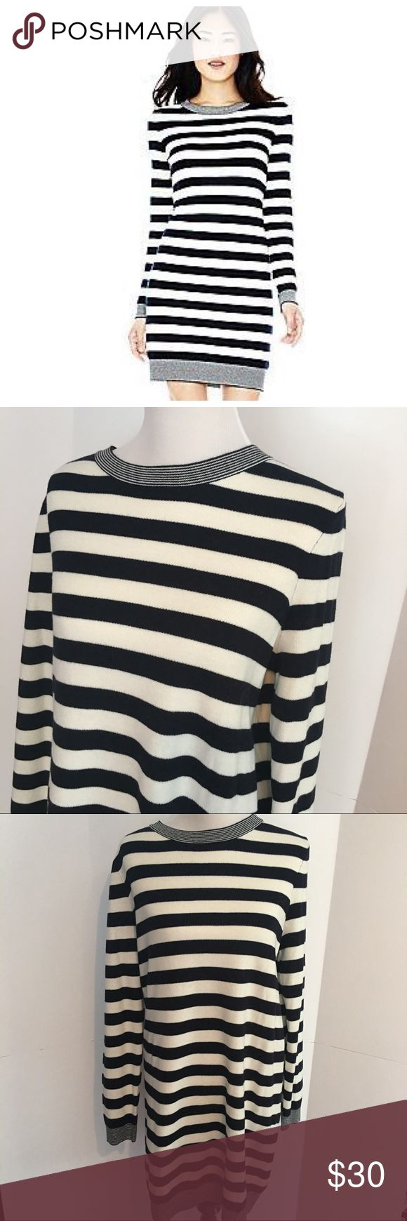 NWT joe fresh striped dress XL Cream and navy stripe sweater dress from joe fresh. Size XL. Never worn NWT. Super cute and functional! Make an offer or bundle and save Joe Fresh Dresses