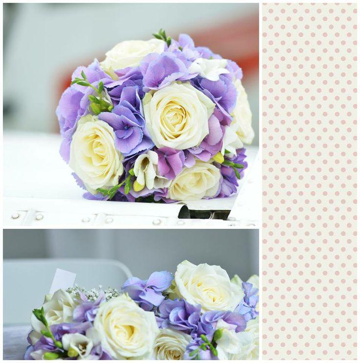 Svatební kytice, levandulovo-bílý styl / Květiny Fleurs #wedding #flower