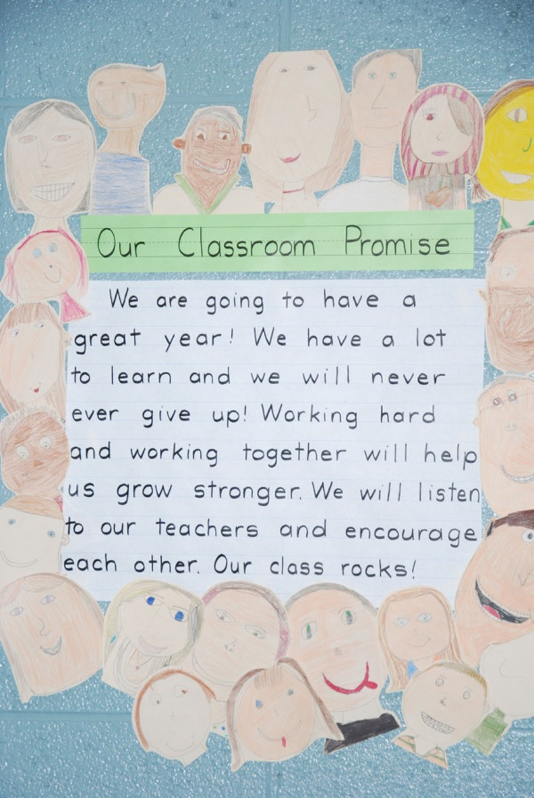 Our Classroom Promise. Good beginning of the year bulletin board