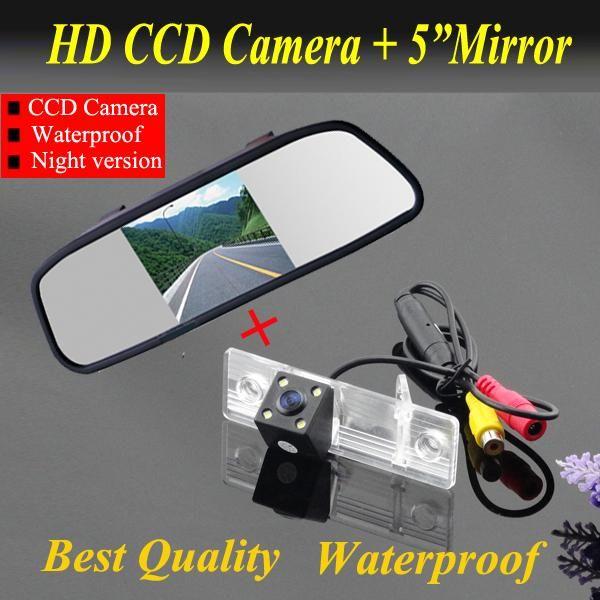 "5"" Car Monitor mirror + Car backup rear view parking camera For Chevrolet Epica Lova Aveo Captiva Cruze car reverse camera"