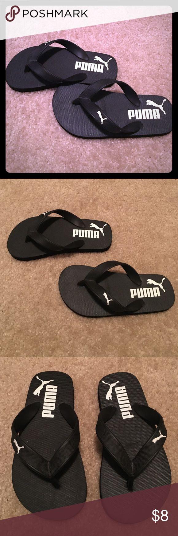 Puma black velcro sandals - Boys Puma Sandals Size 11 12